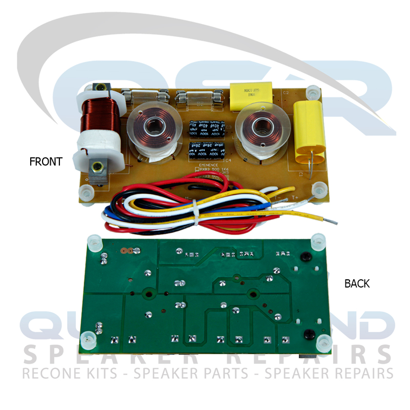 3-Way Crossover, 400W rms, 500 Hz/ 2.5 KHz - Suitable for Eminence