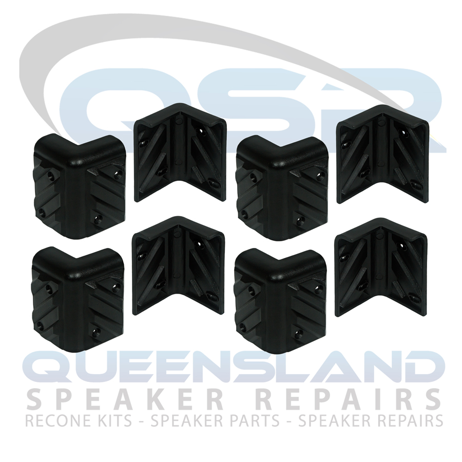 Pack of 8x Speaker Cabinet Corner Protectors